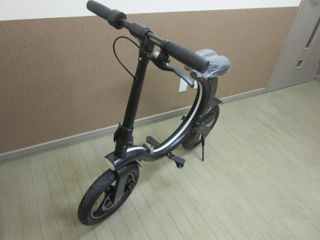 札幌市~新品 超人気!!電動バイク 折り畳み式 お洒落な円形デザイン_画像3