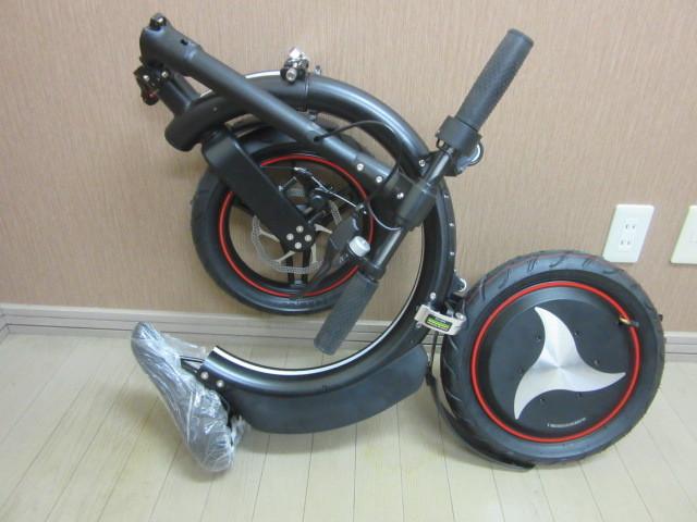 札幌市~新品 超人気!!電動バイク 折り畳み式 お洒落な円形デザイン_画像5