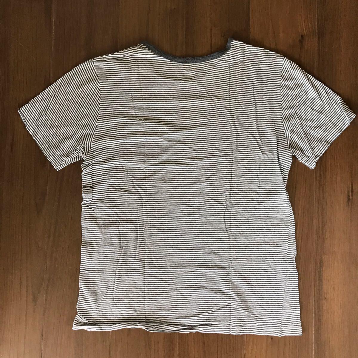 Cher ポケットT ボーダーTシャツ 半袖Tシャツ