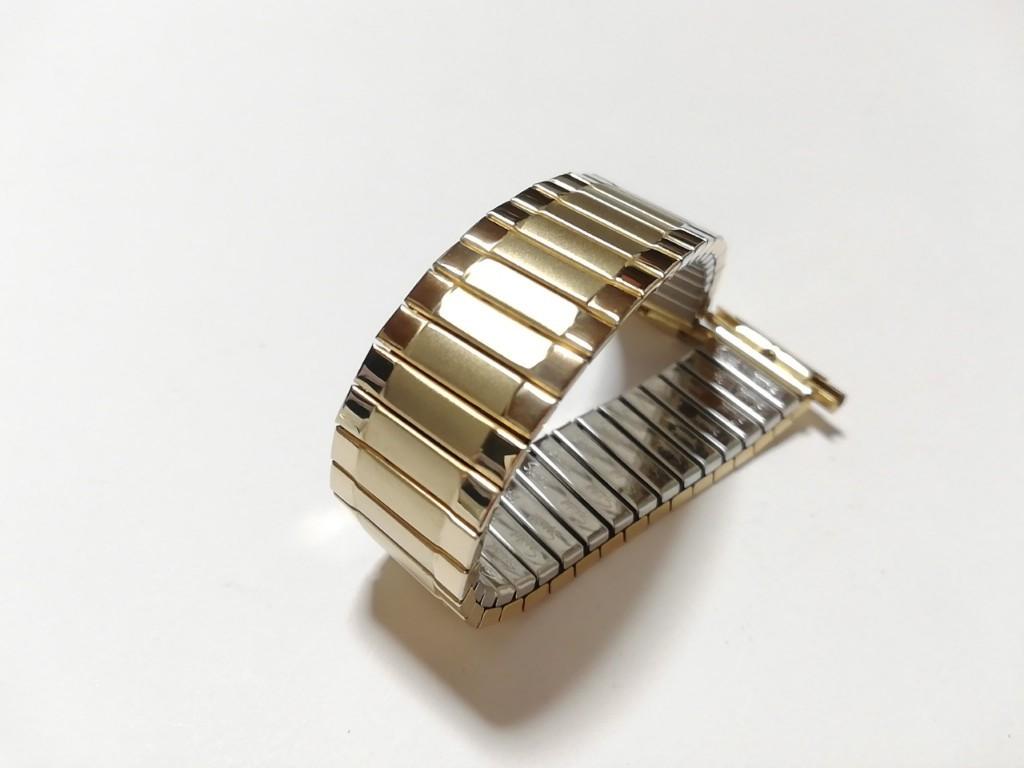 【Speidel】USA アメリカ 当時もの ウォッチバンド 17-22mm 伸縮ブレス メンズ腕時計金属ベルト ビンテージウォッチに MB556_画像7