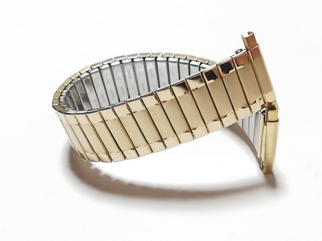 【Speidel】USA アメリカ 当時もの ウォッチバンド 17-22mm 伸縮ブレス メンズ腕時計金属ベルト ビンテージウォッチに MB556_画像8