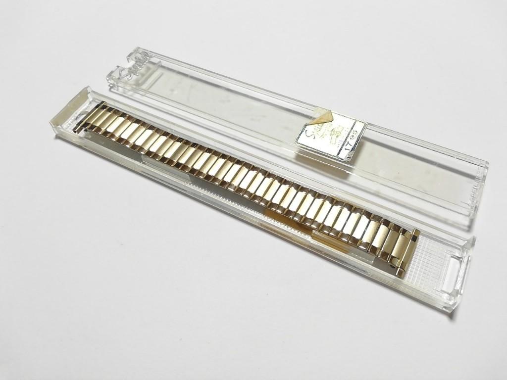 【Speidel】USA アメリカ 当時もの ウォッチバンド 17-22mm 伸縮ブレス メンズ腕時計金属ベルト ビンテージウォッチに MB556_画像4