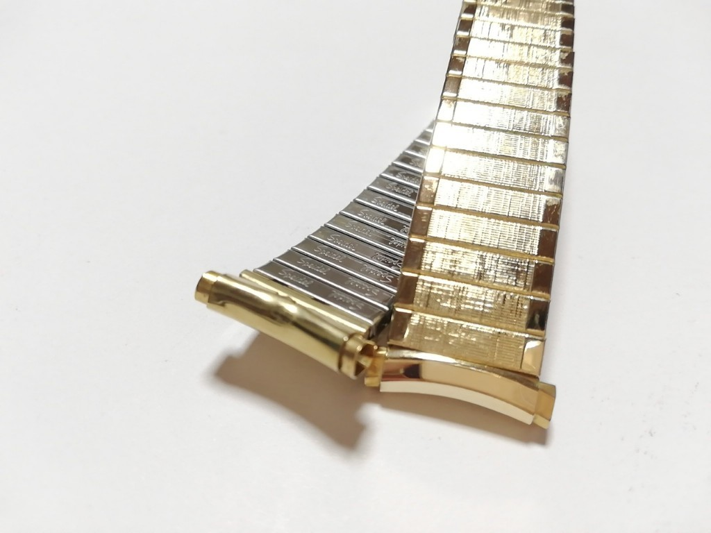 【Speidel】USA アメリカ 当時もの ウォッチバンド 16-19mm 伸縮ブレス メンズ腕時計金属ベルト ビンテージウォッチに MB567_画像2