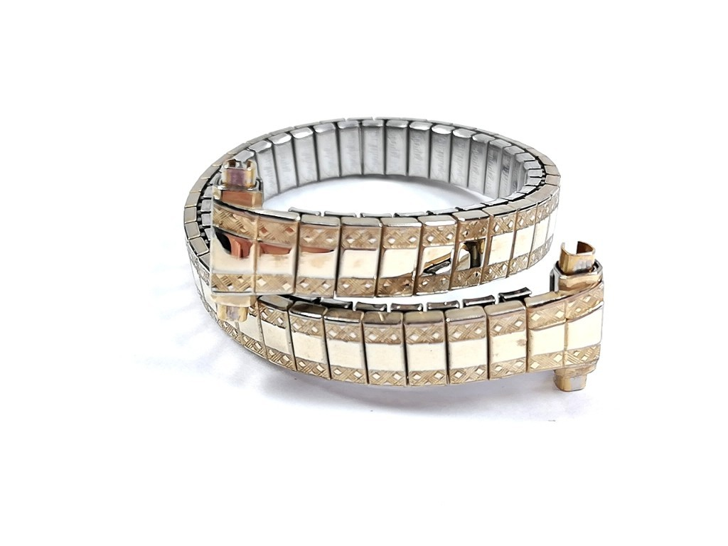 【Speidel】 当時もの USA レディースウォッチブレス 伸縮タイプ 女性用腕時計バンド アンティークウォッチ/ビンテージウォッチに LB673_画像1