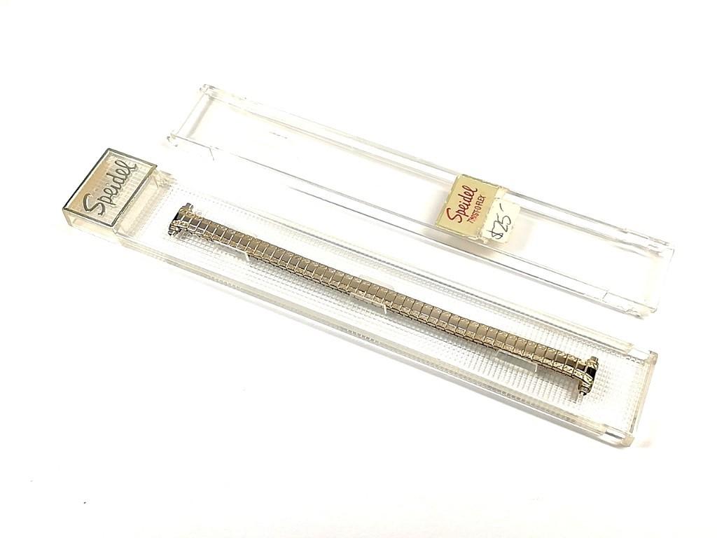 【Speidel】 当時もの USA レディースウォッチブレス 伸縮タイプ 女性用腕時計バンド アンティークウォッチ/ビンテージウォッチに LB673_画像6