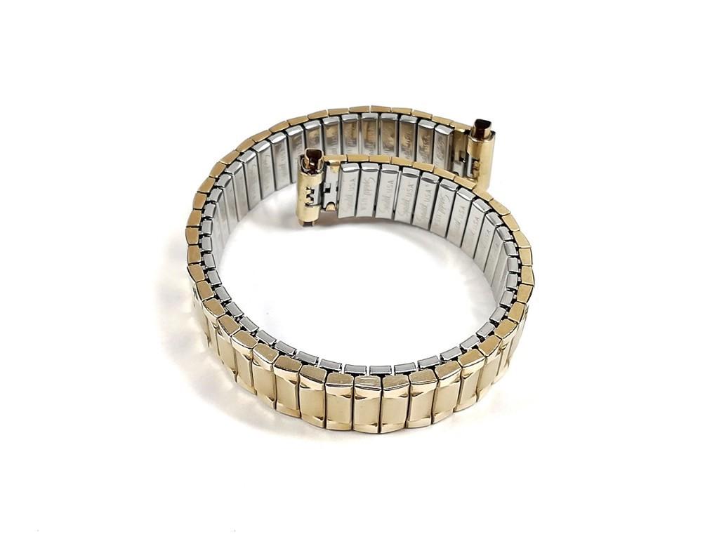 【Speidel】 当時もの USA レディースウォッチブレス 伸縮タイプ 女性用腕時計バンド アンティークウォッチ/ビンテージウォッチに LB675_画像7