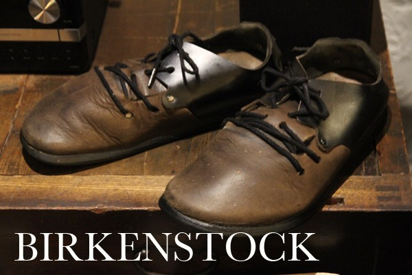 BIRKENSTOCK モンタナ レザーサンダル 42 ビルケンシュトック メンズ 男性 27cm 中古 レザー 牛革 茶色×黒_画像1
