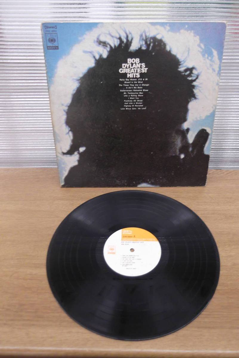【6737】LPレコード BOB DYLAN BOB DYLAN'S GREATEST HITS ボブディラン 音楽 レトロ アンティーク インテリア コレクション ①_画像1