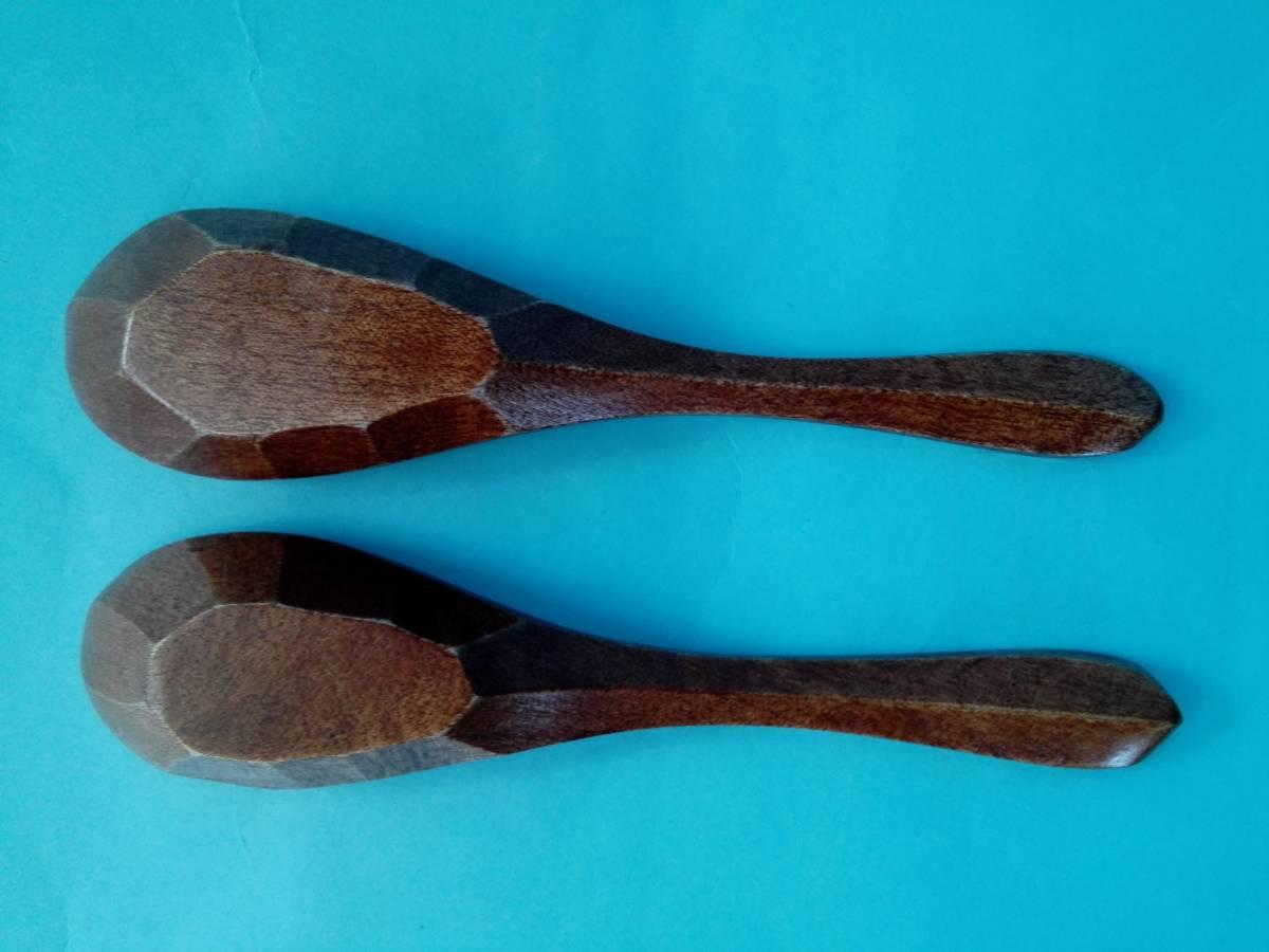 茶碗蒸器 小盆 木製スプーン 3点2客セット 蓋付持ち手付き器 _画像10