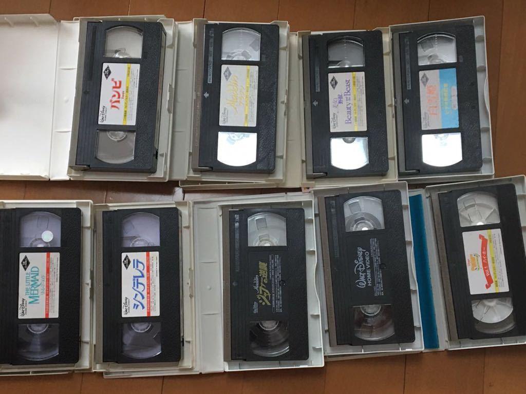 ディズニー ビデオテープ 映画 VHS リトルマーメイド シンデレラ アラジン バンビ 白雪姫 101匹わんちゃん 美女と野獣 美品_画像2