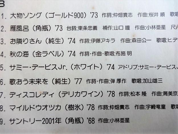 ■4F848 Suntory All Songs on Parade サントリーCMソング集 8インチLP イラスト柳原良平 山口瞳 小林亜星 加山雄三 サミーデイイビスJr,他_画像3