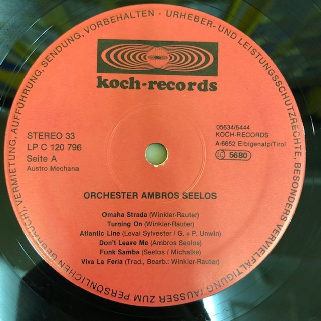 LP Orchester Ambros Seelos / S.T. Koch Records LPC120796 オリジナル Jazzfunk Rare Groove レアグルーヴ_画像3