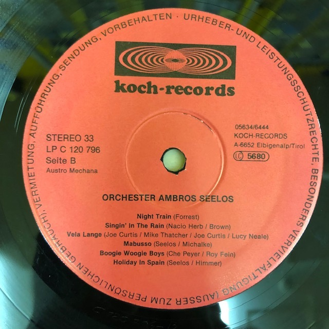 LP Orchester Ambros Seelos / S.T. Koch Records LPC120796 オリジナル Jazzfunk Rare Groove レアグルーヴ_画像4