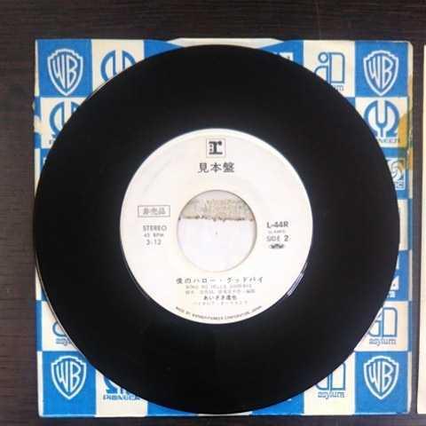 プロモ盤/あいざき進也/青春物語、僕のハロー・グッドバイ《白ラベル・見本盤・非売品・EP・L-44R・1976.10》_画像5