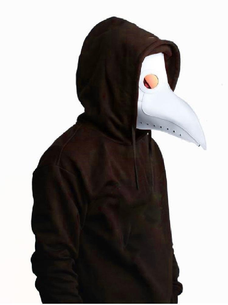 (白) ペストマスク コスチューム 白 黒 コスプレ ハロウィン スチーム パンク 仮装 メンズ 大人 医者 お面 仮面 かぶりもの 被り物_画像1