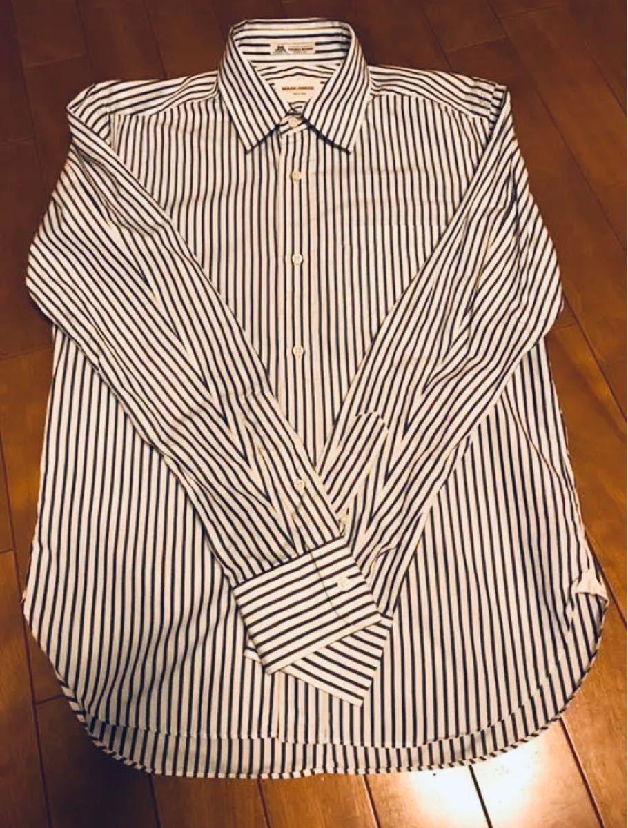 MARKAWARE ストライプシャツ 長袖シャツ ボタンダウンシャツ