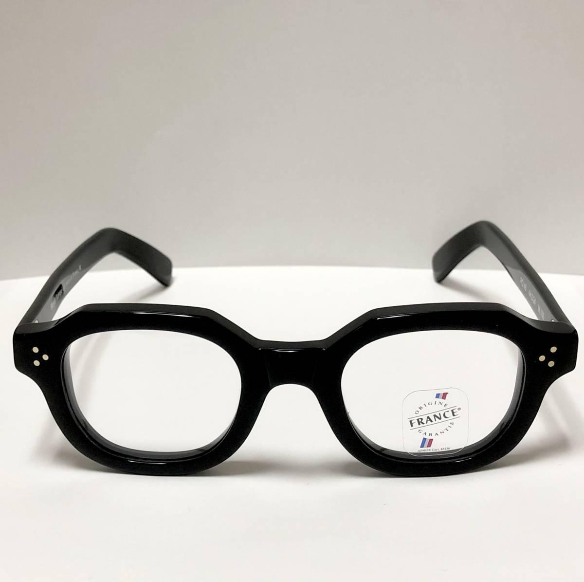 マリル 極太メガネ 新品/未開封 Frame France フレームフランス Maryll 黒 クラウンパント似 3dot 純正ケース付き_画像1