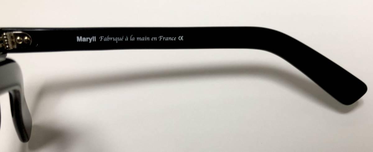 マリル 極太メガネ 新品/未開封 Frame France フレームフランス Maryll 黒 クラウンパント似 3dot 純正ケース付き_画像6