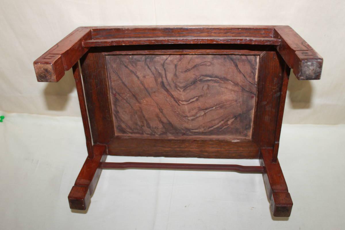 ◆古い無垢材 平卓・花台・香炉台 盆栽盆石等①_画像4