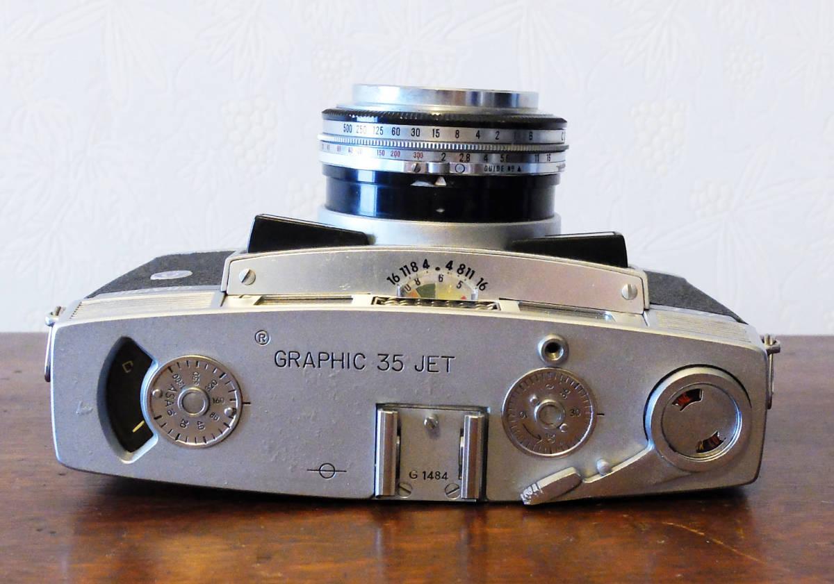 【中古/稀少/ジャンク】グラフレックス グラフィック35ジェット〈炭酸ガスボンベ機構非搭載モデル〉:Graflex GRAPHIC 35 JET_画像3