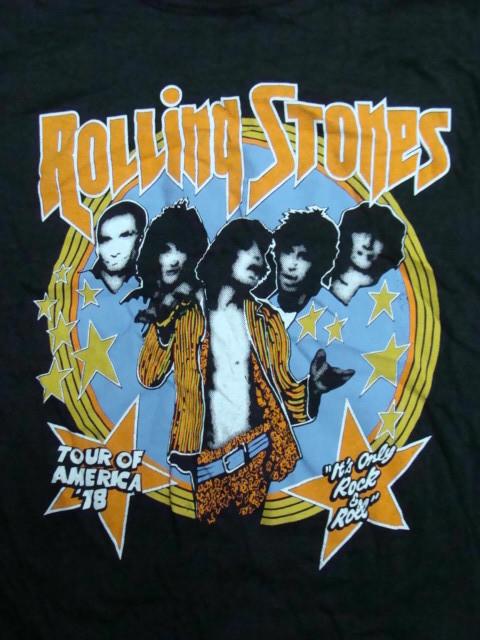 The Rolling Stones ザ・ローリング・ストーンズ Tour'78 Tシャツ (表記M・小さめ) 【ネコポス可能】 _画像1