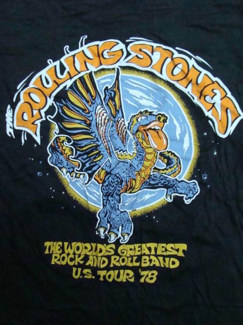 The Rolling Stones ザ・ローリング・ストーンズ Tour'78 Tシャツ (表記M・小さめ) 【ネコポス可能】 _画像4