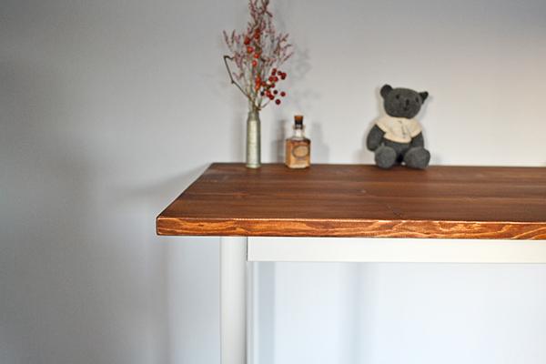 Counter Table 120 iron leg white カウンター テーブル サイド シェルフ ワーク アトリエ アンティーク 鉄脚_画像3