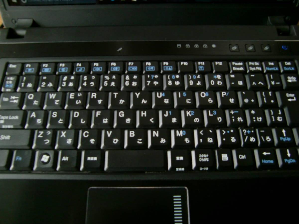 Clevo ミニ M735T 無線LAN DVD-RW リカバリ 美品 完動即使用可_画像2