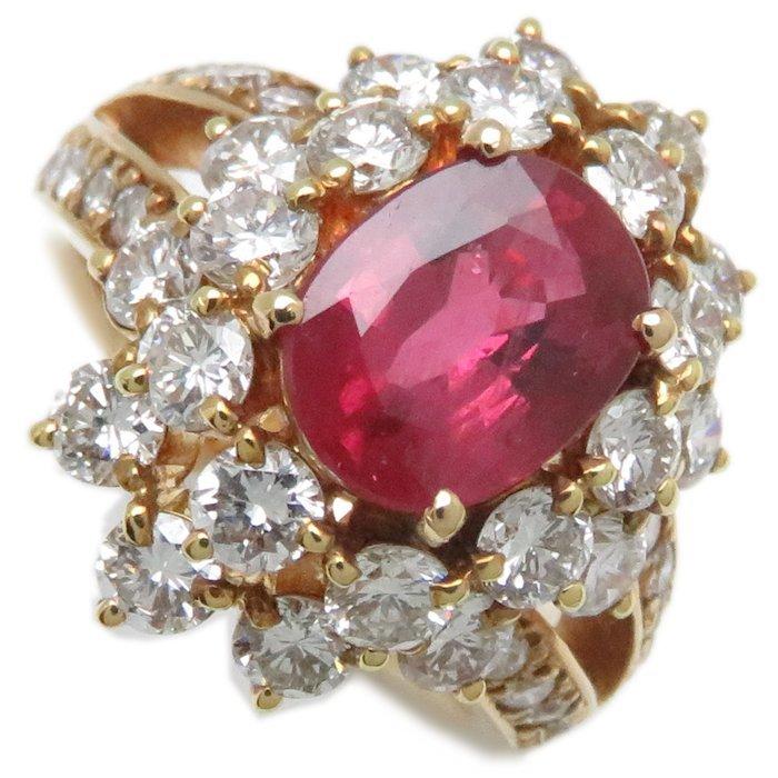 リング K18YG ルビー1.80ct ダイヤモンド2.02ct 9号 18金イエローゴールド 指輪 レディース ジュエリー /63952 【中古】_画像10