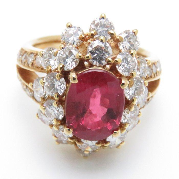 リング K18YG ルビー1.80ct ダイヤモンド2.02ct 9号 18金イエローゴールド 指輪 レディース ジュエリー /63952 【中古】_画像4