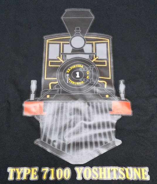 ■義経号Tシャツ 黒/Sサイズ 国鉄7100形蒸気機関車 SL 京都鉄道博物館オリジナル_画像1