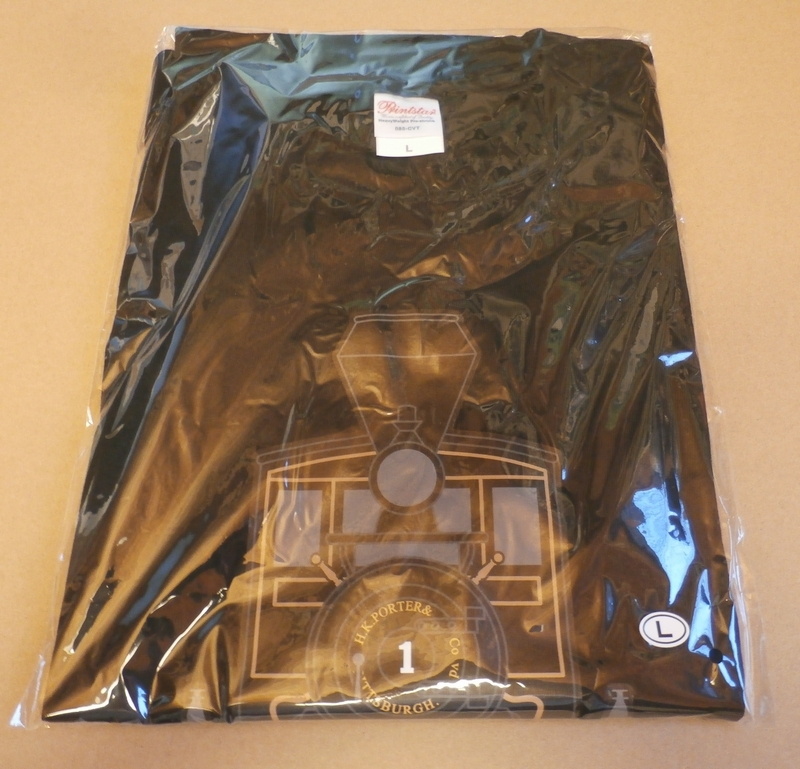 ■義経号Tシャツ 黒/Sサイズ 国鉄7100形蒸気機関車 SL 京都鉄道博物館オリジナル_画像4