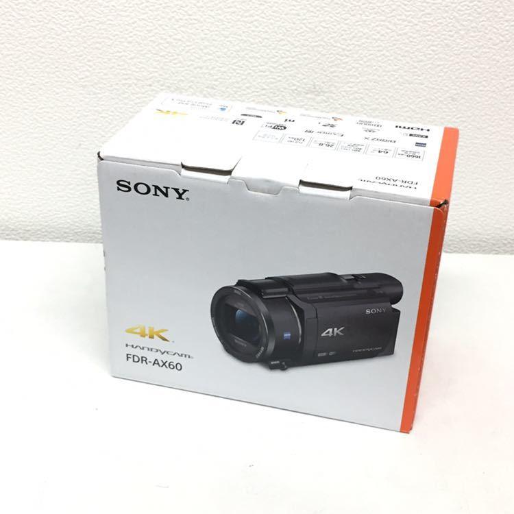 ★ 新品 未使用品!! ★ SONY ソニー FDR-AX60 4K ビデオカメラ ハンディカム 高畫質 ビデオカメラレコーダー ブラック 運動會 行楽 行事★
