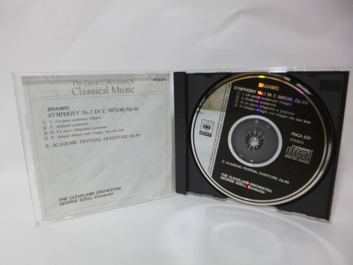 CD ブラームス 交響曲第1番 大学祝典序曲 ジョージ・セル指揮 クリーヴランド管弦楽団 CBS/SONY BRAHMS_画像6