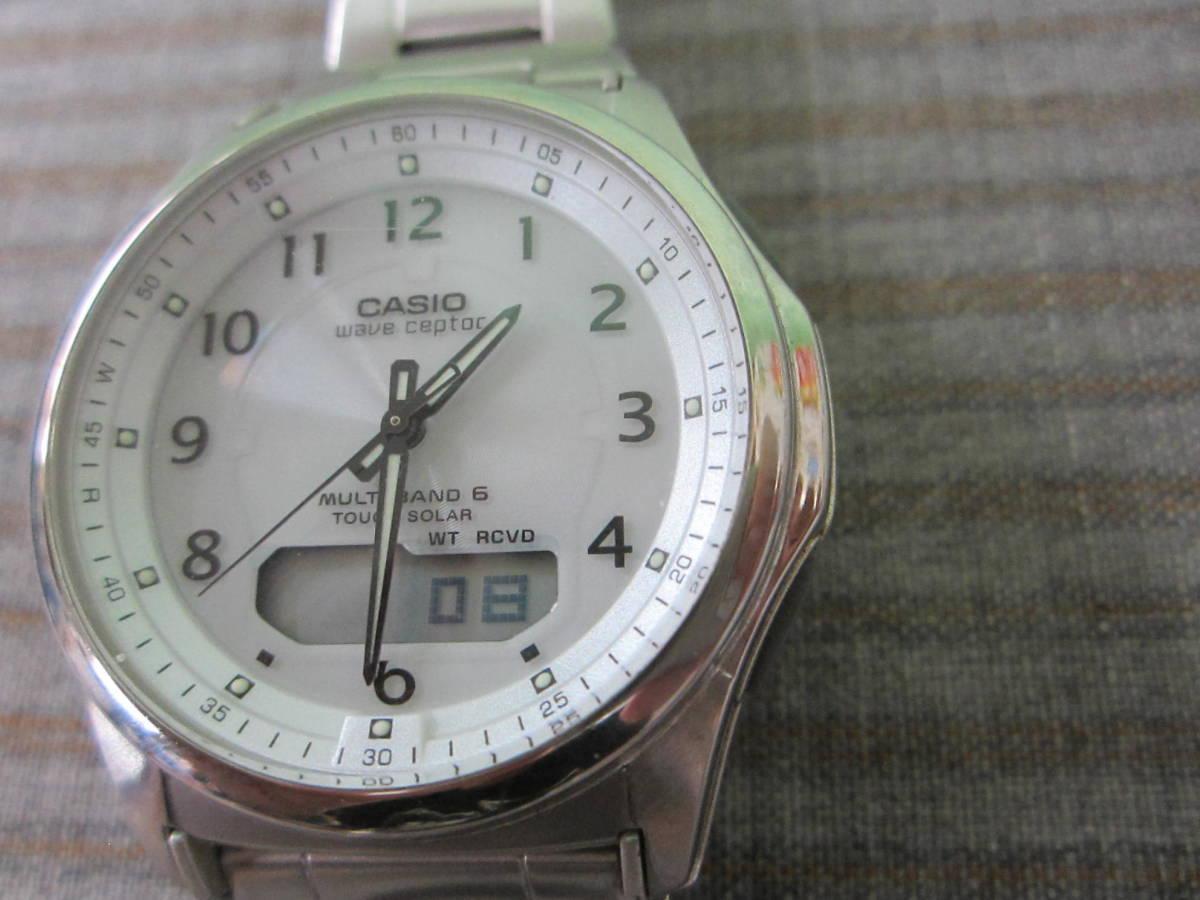 (つ-U-182)CASIO カシオ WVA-M630 腕時計 WAVECEPTER ウェーブセプター 5161 マルチバンド6 TOUGH SOLAR タフソーラー 電波時計 中古_画像2