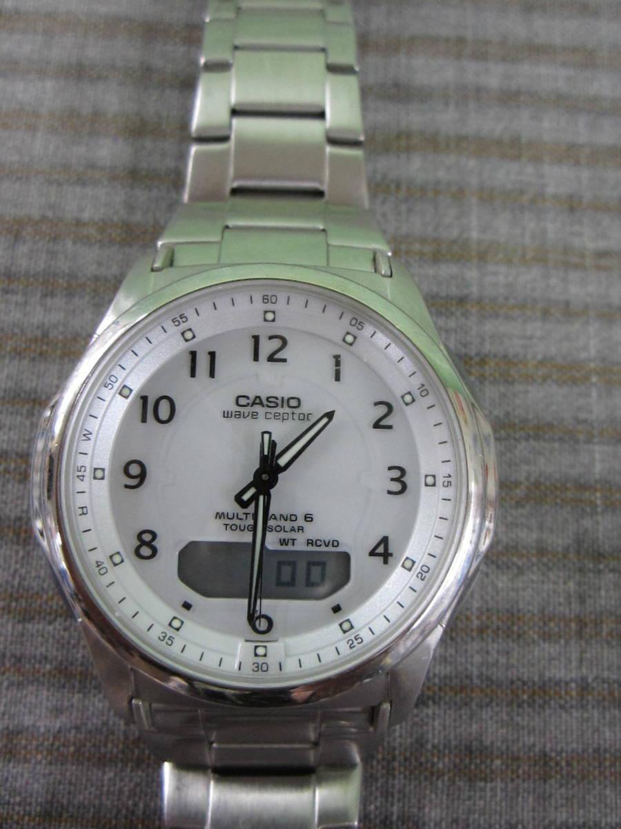(つ-U-182)CASIO カシオ WVA-M630 腕時計 WAVECEPTER ウェーブセプター 5161 マルチバンド6 TOUGH SOLAR タフソーラー 電波時計 中古_画像1