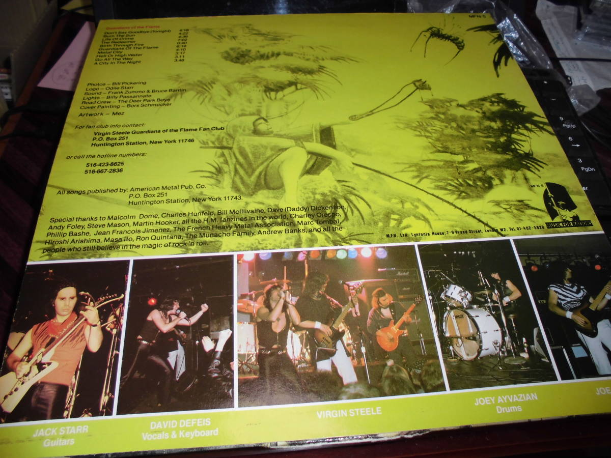 VIRGIN STEEL/GUARDIANS OF THE FLAME 輸入盤LP 盤面良好 MFN5_画像2