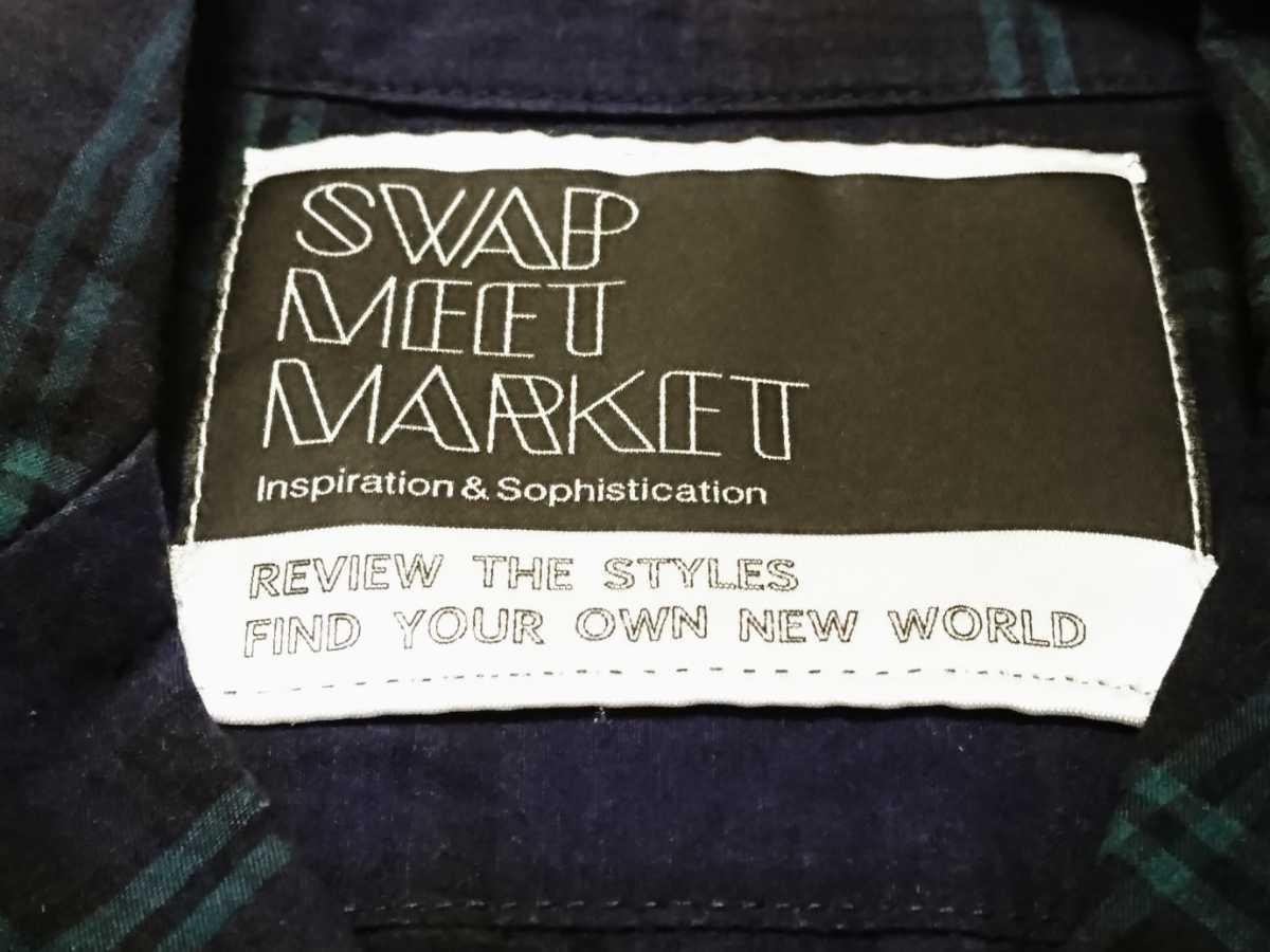 swap meet market スワップミートマーケット 綿麻チェックシャツ♪120サイズ_画像9