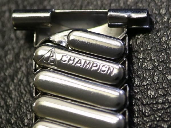 【19.0mm 】 デッドストック 1940'S ROYAL JB CHAMPION エクスパンション ベルト アンティーク 腕時計 バンド ブレス / ミリタリー BONKLIP_画像2