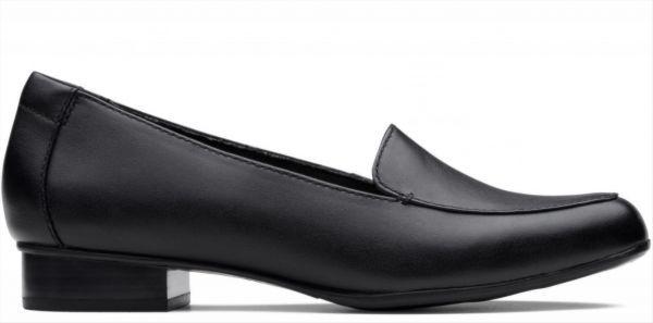 送料無料 Clarks 25.5cm クラシック フラット ブラック 黒 レザー 革 バレエ ローファー ソフト インソール フォーマル スリッポン AC57_画像2