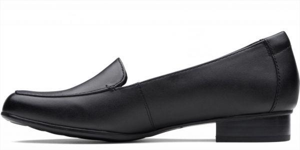 送料無料 Clarks 25.5cm クラシック フラット ブラック 黒 レザー 革 バレエ ローファー ソフト インソール フォーマル スリッポン AC57_画像9