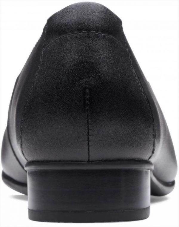 送料無料 Clarks 25.5cm クラシック フラット ブラック 黒 レザー 革 バレエ ローファー ソフト インソール フォーマル スリッポン AC57_画像3