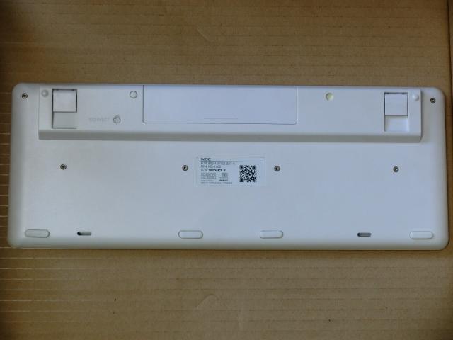 ワイヤレスキーボード NEC/KG-1062 白 動作確認済