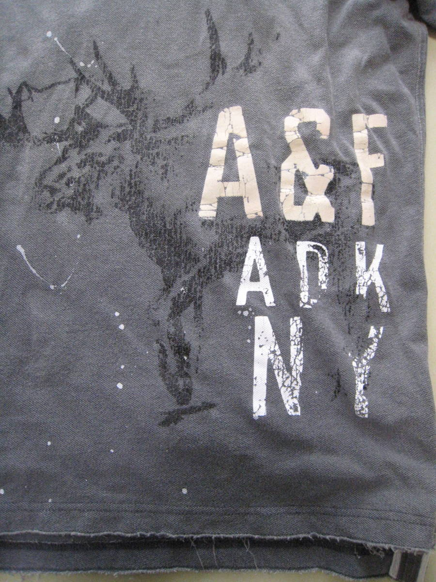 送料無料■中古品■Abercrombie&Fitchアバクロンビー&フィッチ■半袖ポロシャツ■S