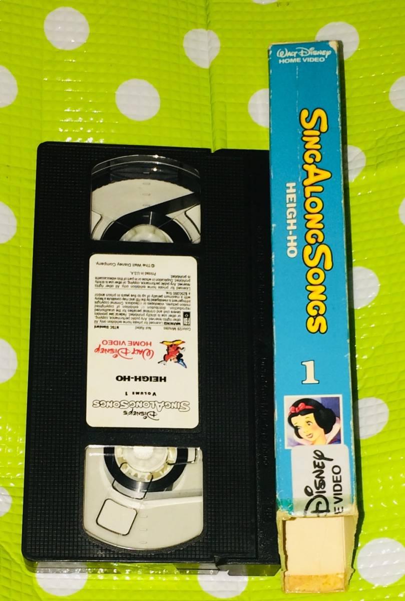 即決〈同梱歓迎〉VHS シング アロング ソング Vol.1 ディズニー アニメ 歌 音楽◎その他ビデオDVD多数出品中∞t423_画像3