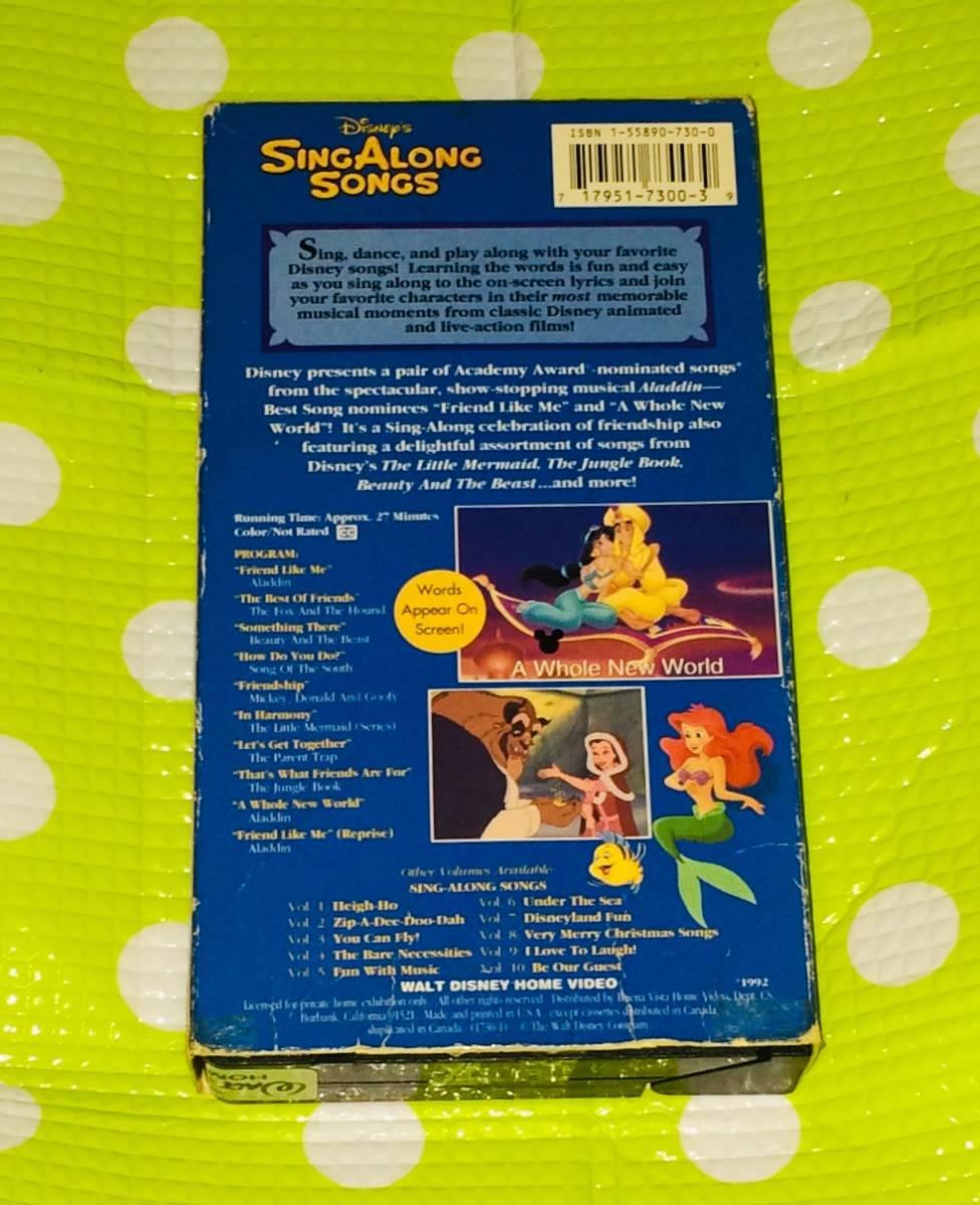 即決〈同梱歓迎〉VHS シング アロング ソング Vol.11 ディズニー アニメ 歌 音楽◎その他ビデオDVD多数出品中∞t421_画像2
