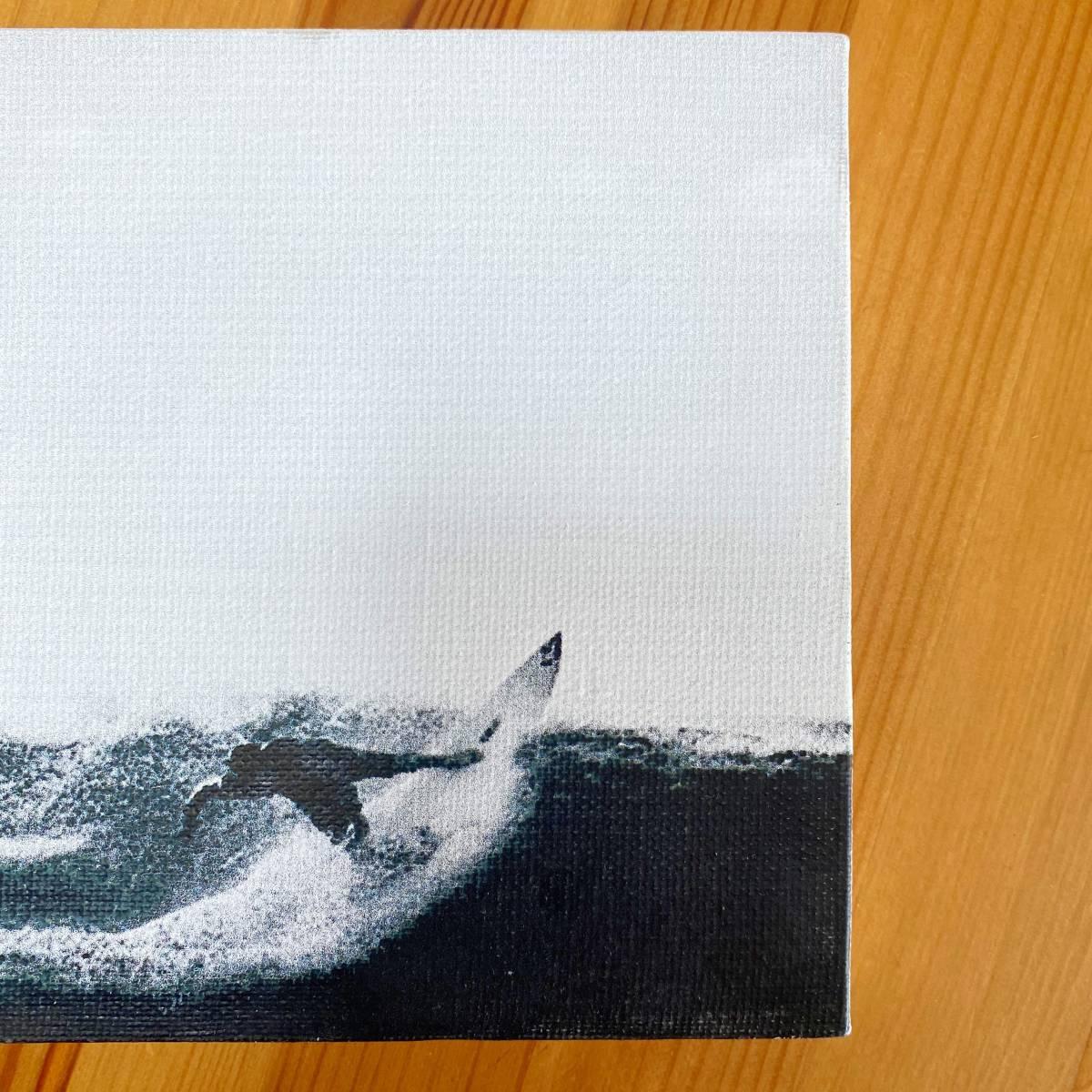 【新品】④ キャンバスアート ファブリックパネル アート 壁掛け サーフ ディスプレイ 海 Sea サーフィン HOME 11/2