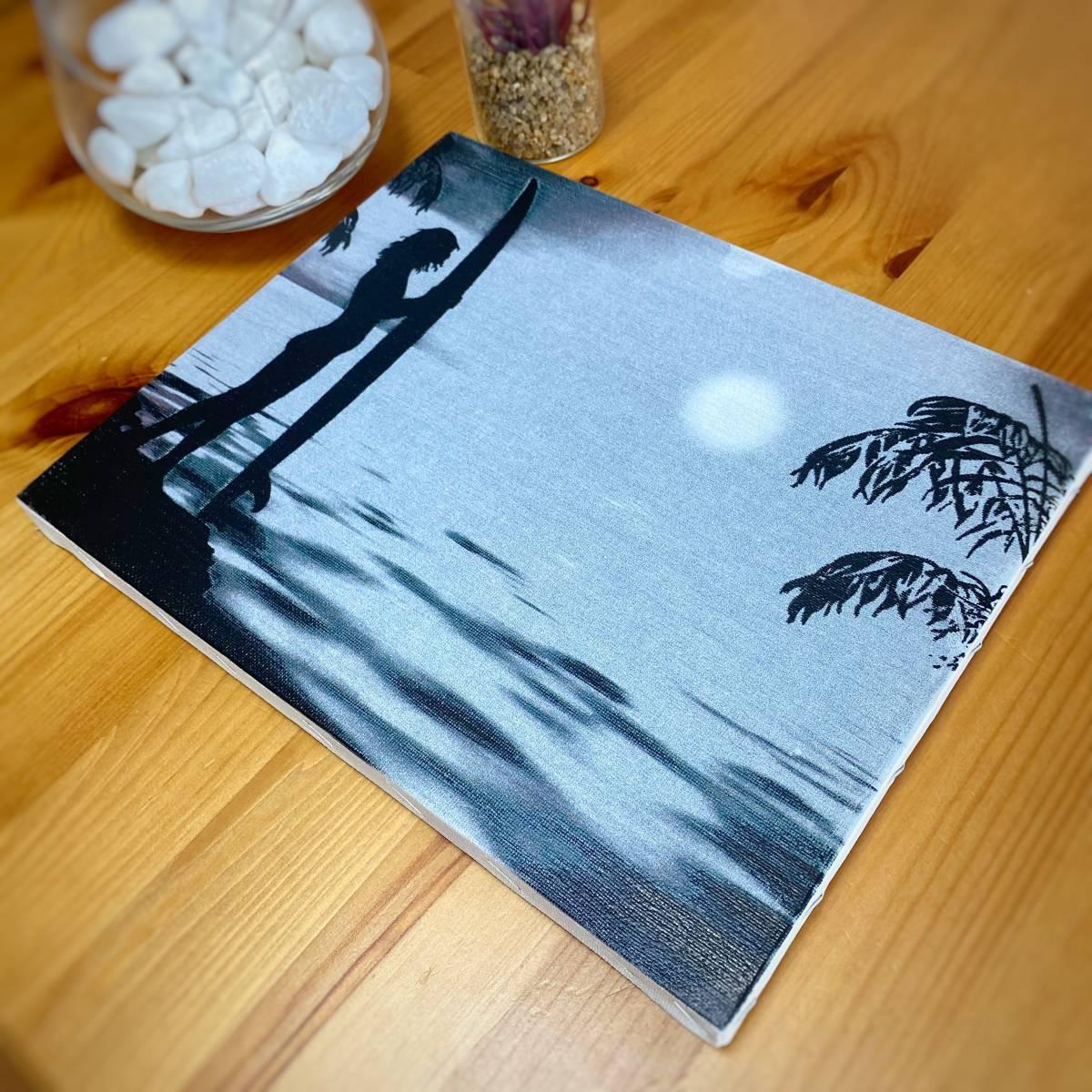 【新品】18 キャンバスアート ファブリックパネル アート 壁掛け サーフ ディスプレイ 海 Sea サーフィン HOME おうち時間 日本製 11/2