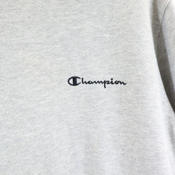 チャンピオン トレーナー L グレー Champion 長袖 裏起毛 スウェット ワンポイント ロゴ 刺繍 メンズ 200403_チャンピオン トレーナー L グレー Ch