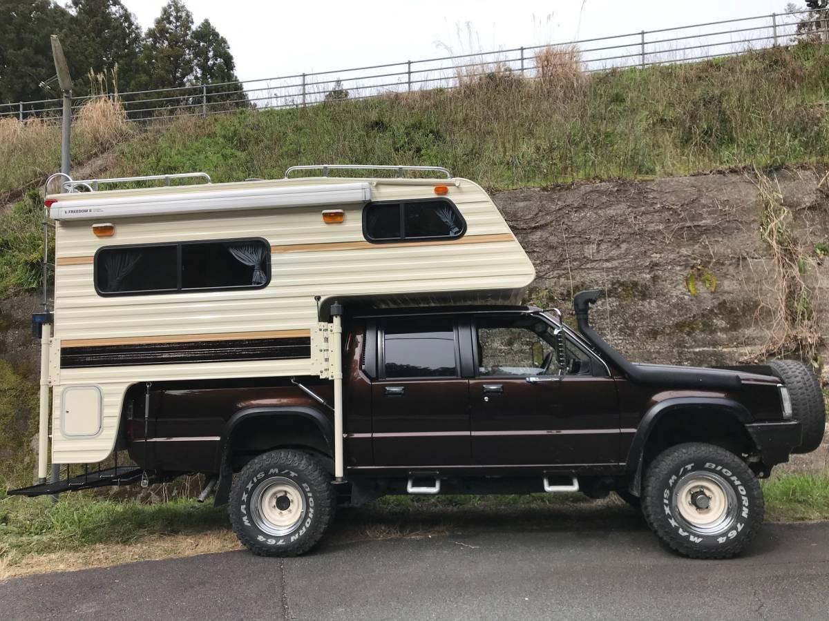 「トラックキャンパー 三菱ストラーダ/ダットサン/ハイラックス/Wキャブ/ピックアップ 4WD」の画像3